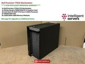 Dell T7910 Workstation Xeon E5-2637 V4 3.50GHz  128GB  2x 500GB SSD Quadro P4000