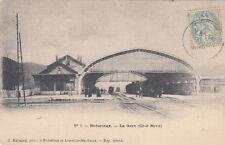 BEDARIEUX 3 la gare côté nord chemin de fer train photo raynaud timbrée