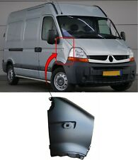 Renault Master 2003-2010 Front Wing With Side Lamp Hole Primed Driver Side