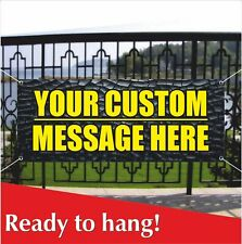 Your Custom Message Here Banner Vinyl Mesh Banner Sign Personalized Design