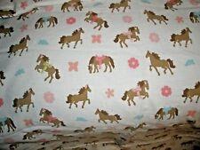 CIRCO PRETTY HORSES PINK PONIES Sheet Twin Size Flat Sheet