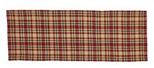 "PLAID COUNTRY CHRISTMAS SEASONS GREETINGS TABLE RUNNER 13"" x 36"" By PARK DESIGNS"