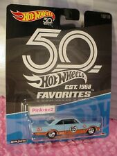 '65 FORD GALAXIE 10/10 blue; GULF 65;real riders 2018 HOT WHEELS 50th FAVORITES
