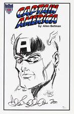 1941 circa Allen Bellman Captain America Timely Comics Signed 11x17 Print (Jsa)