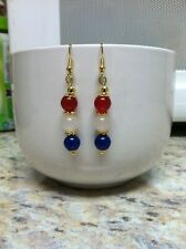 Women's New Pierced Red,White,Blue,Beaded Earrings(Perfect For The 4th Of July)