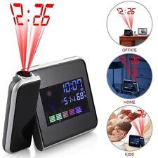Digital Led Alarm Clock Weather Temperature Thermometer Humidity Table Clocks