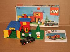 LEGO 368 ~ Taxi Station + OVP ~ 1976 ~ komplett mit Fahrzeug und Figuren
