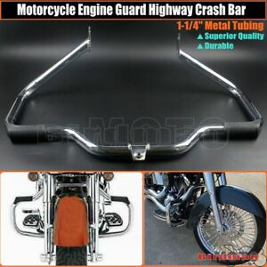 Chrome Engine Guard Highway Crash Bar For Harley Touring Road King FLHT 1997-08