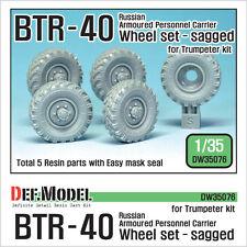 Def.model, BTR-40 russe APC roue set (pour trompettiste), dw35076