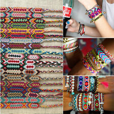 10pcs/set Mixed Color Friendship Bracelet Handmade Woven Rope String Hippy Boho
