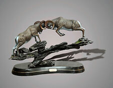 """BRONZE """"Clap Of Thunder""""  Ram Sheep Limited Edition SCULPTURE by BARRY STEIN"""