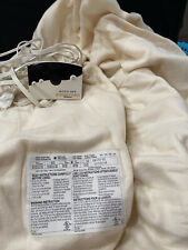 Cream Biddeford 100% Acrylic Twin Heated Blanket with auto off and temp.control
