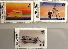Gambia 1988 792-94 trasporti Rocket High Speed car auto veicolo a vapore MNH