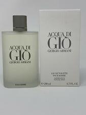 Acqua Di Gio 6.7 Oz Giorgio Armani Eau De Toilette Pour Homme Cologne Spray Men