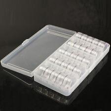 25 Storage Bottles Plastic Empty Box Case Pot For Nail Art Rhinestone Bead Gems