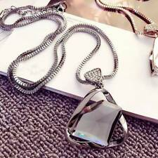 Necklace Cool Geometry Crystal Rhinestone Pendant Necklace Sweater Long Chain