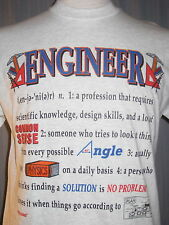 Engineer Medium Gray T-Shirt ( M Civil Electrical Chemical Engineering Major )