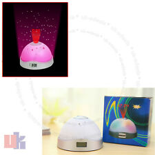7 Colour Changing Digital LCD Alarm Clock Snooze LED Light Projector Time UKED