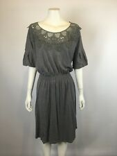 NEW METALICUS one size Arabesque Lace 1/2 length sleeve dress RRP $200