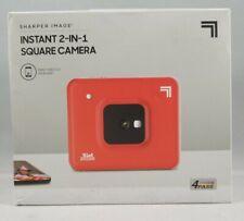 Sharper Image 2 in 1 Wireless Instant Film Camera, Bluetooth Photo Printer - Red