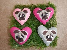 brooch Choose your colour Totally handsewn Pug Dog brooch One handmade designer