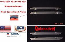 1970 1974 Dodge Challenger Rallye Hood Scoop Inserts 2998180 2998181 New MoPar