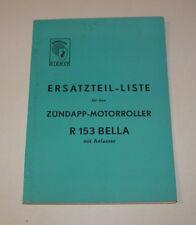 Teilekatalog Zündapp Motorroller Bella R 153 - Ausgabe 1956!
