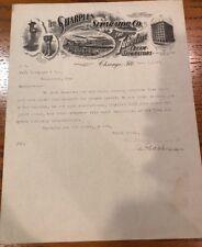 1907 SHARPLES SEPARATOR Tubular Cream Separators CHICAGO Illinois Letterhead