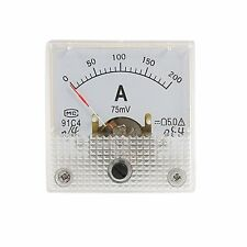 Fine Tuning 0-200A Scale DC Current Panel Meter Analog Amperemeter