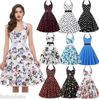 SALE Women's 50s Rockabilly Retro Pinup Swing Party Prom Vintage Evening Dress