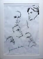 Giovanni Antoci - Carboncino su carta, opera originale anni '80 firmata