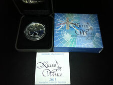 2011 $1 Killer Whale Aust Antartic Territory 1oz Silver Proof Coin