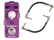 Mooer Echolizer Boutique Digital Delay Guitar FX Pedal & 2 FREE Patch Cables