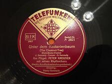"""PETER KREUDER (piano) """"Unter Dem Kastanienbaum""""/""""Penny Serenade"""" 78rpm 1939 VG+"""