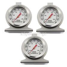 3 x Termómetro Medidor de temperatura de Cocina de horno universal de acero inoxidable análogo