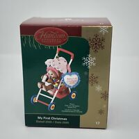 Carlton Cards Heirloom Christmas Ornament My First Christmas 2005 Baby's 1st New