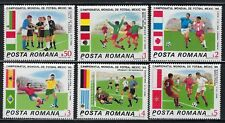 Romania - 1986 World Cup Soccer on Mnh Stamps . A 8212