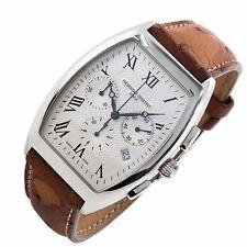 Frederique Constant Art Deco Chronograph Date Swiss large mens watch Box Papers