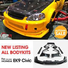 For 96-00 Honda Civic EK9 MM Style FRP Unpainted Full Widebody All Body Kits