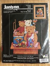 Janlynn 14 Count Aida Cross Stitch Kit Toys in the Attic Teddy 30.5 x 40.6 cm