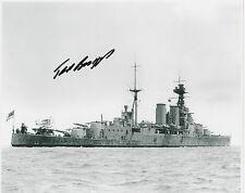 TED BRIGGS Signed 10X8 Photo HMS HOOD Survivor COA