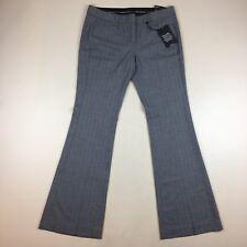 NWT $79.50 Express Illustrator Gray Lean Flare Career Dress Pants Stretch Sz 10