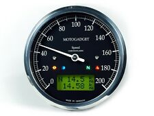 Motogadget Chronoclassic Speedo with Green LCD - Black Bezel