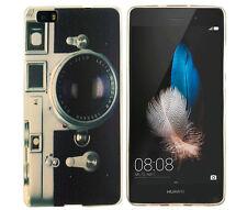 Case f Huawei P8 lite Schutzhülle Tasche Cover Etui Kamera Fotoapparat retro