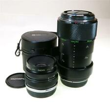 OLYMPUS OM SYSTEM 80MM F-4 MACRO LENS EXC COND WITH ADAPTER, SHIP WORLDWIDE