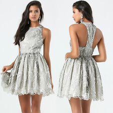 BEBE LACE EMBROIDERED SEQUIN FLARED DRESS NEW NWT $199 XSMALL XS 2