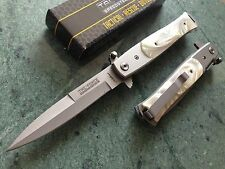 TAC FORCE STILETTO SPRING ASSISTED TACTICAL PEARL HANDLE POCKET KNIFE FOLDING