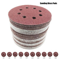 "80pc 125mm 5"" Sanding Discs Pads 40-400 Mix Grit Orbital Sander 8 Hole Sandpaper"