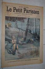 PETIT PARISIEN 1905 SCAPHANDRIERS SOUS-MARIN FARFADET / DIRIGEABLE LEBAUDY N°2