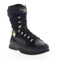 Puma Deva Boot X Balmain 37217801 Womens Black High Top Sneakers Shoes 5.5